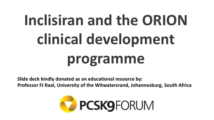 Inclisiran and the ORION clinical development programme